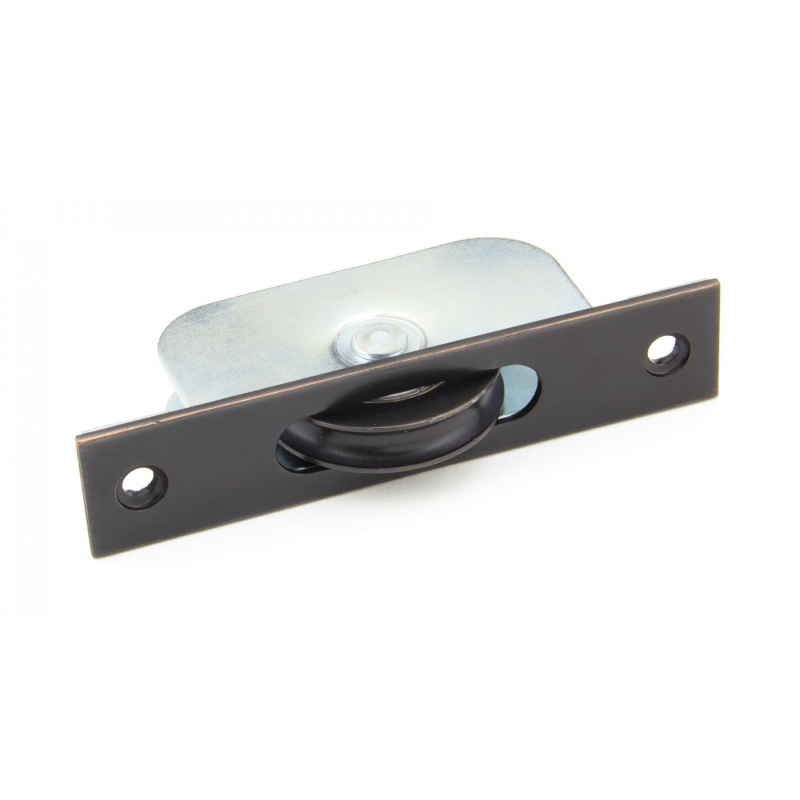 Aged Bronze Square Ended Sash Pulley 75kg