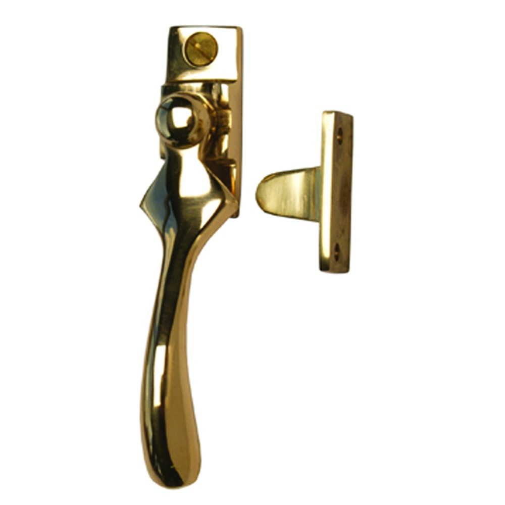Cardea Brass Wedge Casement Fastener - Handle