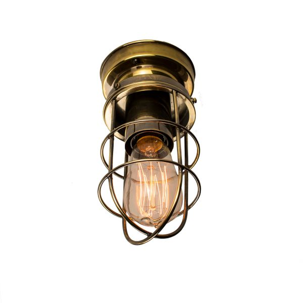 Cellar Flush Light - Polished Copper