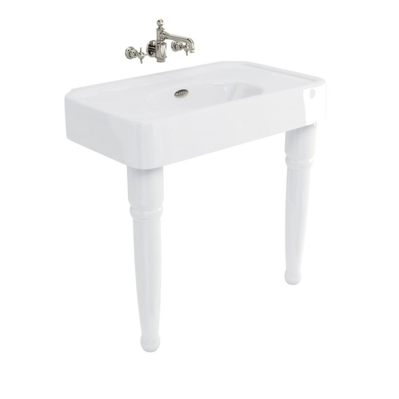 Arcade 900mm basin with Overflows & Ceramic Console Legs