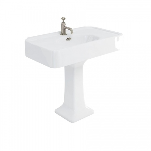 Arcade 900mm Basins with Overflow & Pedestal