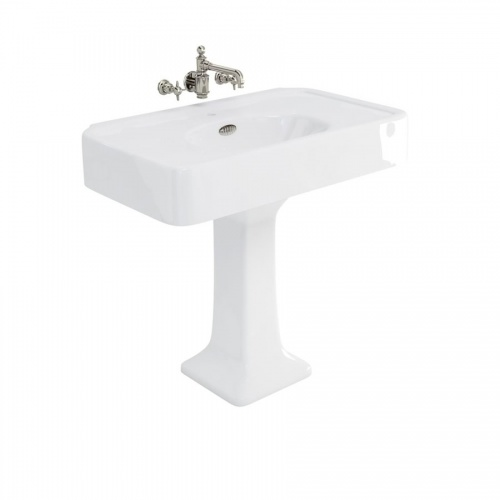 Arcade 900mm Basin with Overflows & Pedestal