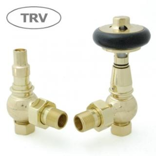 Amberley TRV Cast Iron Radiator Valve - Polished Brass