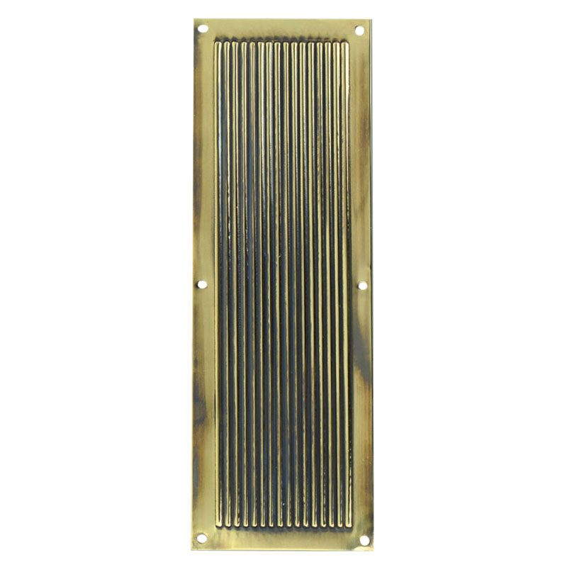 Antique Brass Reeded Finger Plate