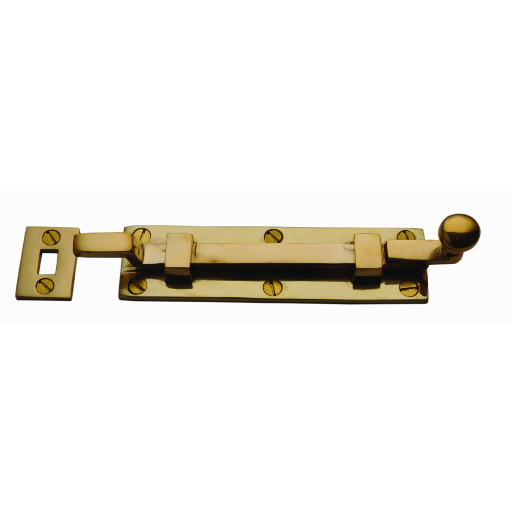 Door Bolt Cranked - Brass