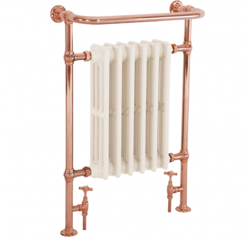 Broughton Heated Towel Rail Copper 965mm x 675mm