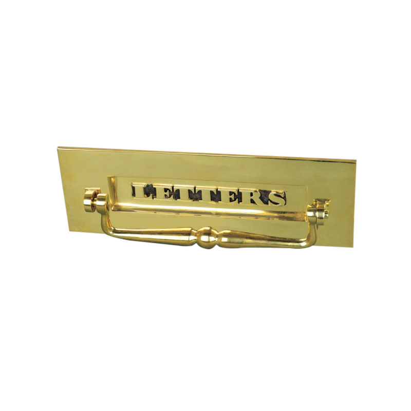 Classic Letterbox With Clapper - Brass