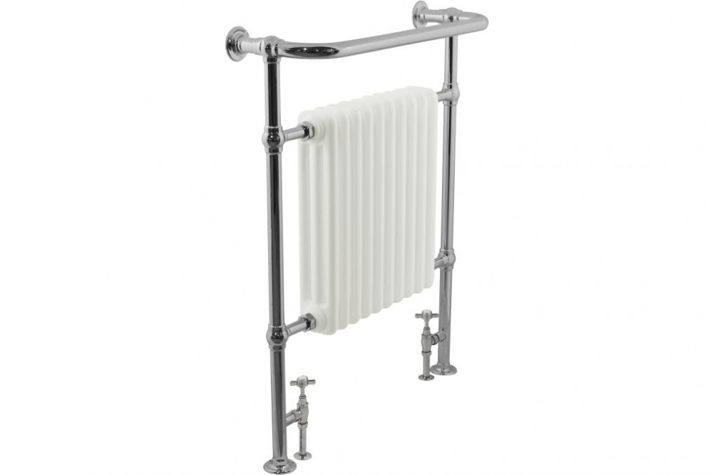 Brushed Chrome Bathroom Radiators: JIG Hawton Towel Warmer