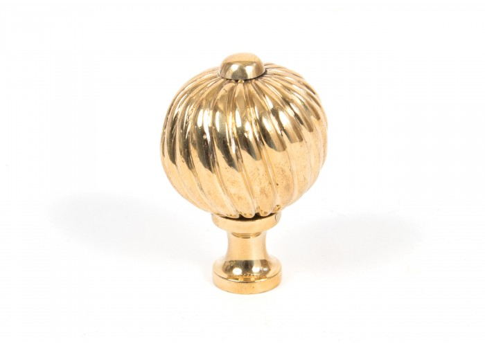 Small Spiral Cabinet Knob - Polished Brass