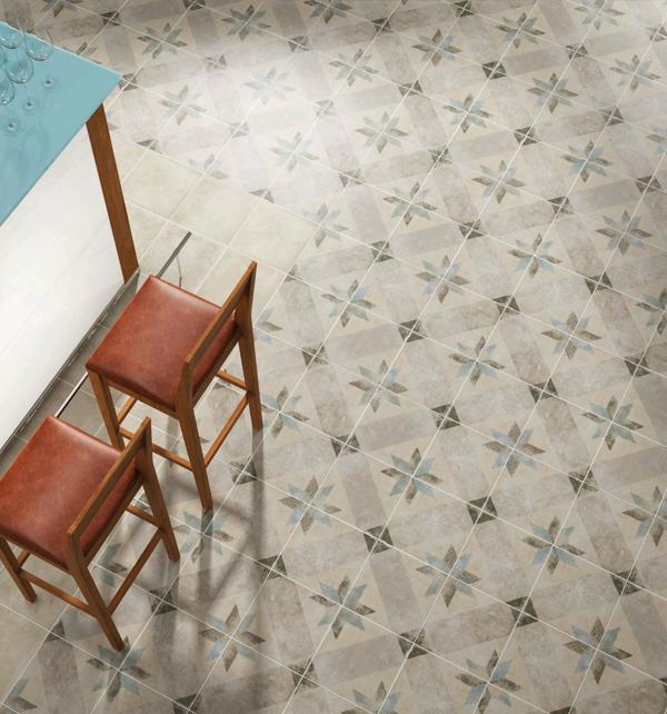 Moroccan Impressions Star Blue Floor Tiles