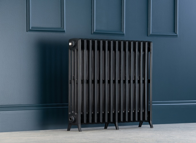 Edwardian Radiator 750mm - 15 Sections - Anthracite