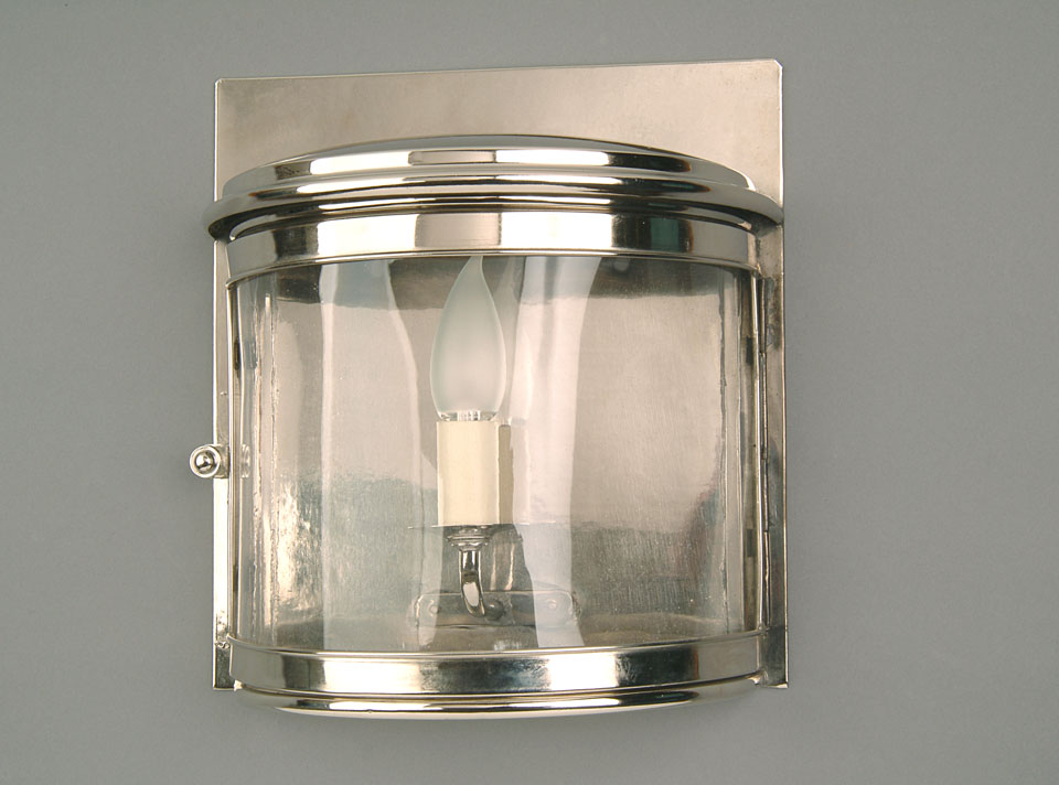 Nickel large art deco wall light for Wall and deco showroom milano