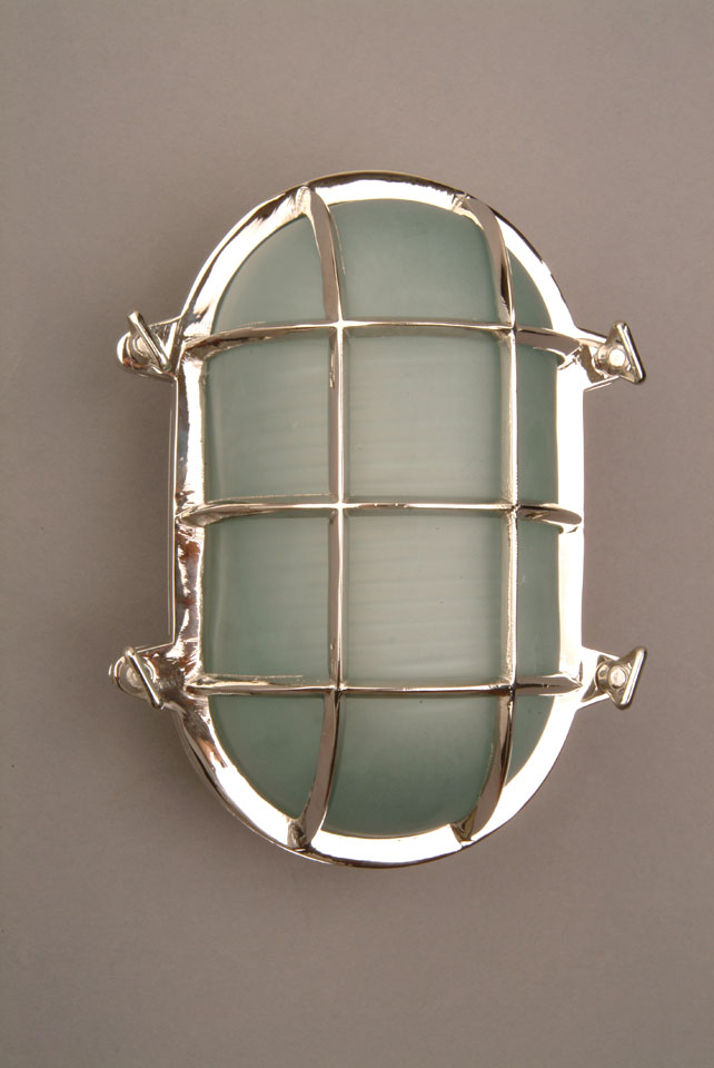 Nickel Large Oval Ships Bulkhead (Glass Included)