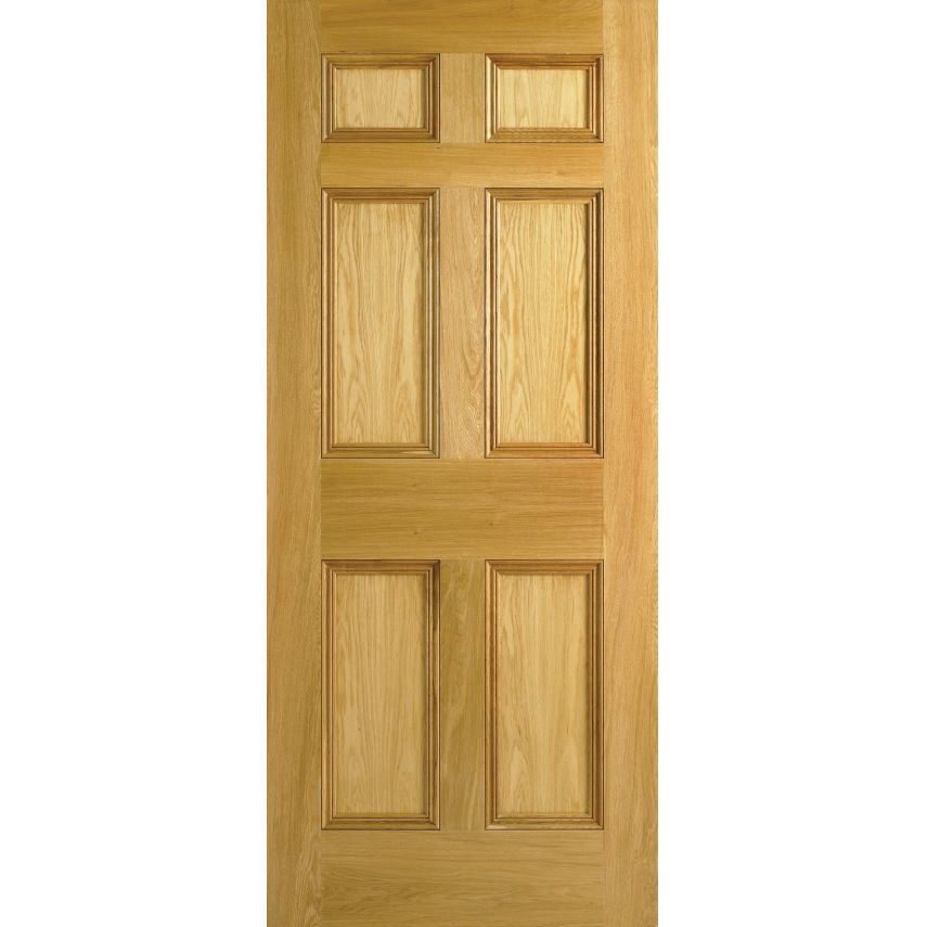 sc 1 st  Period House Store & Traditional Oak Internal Door - Georgian 6 Panel