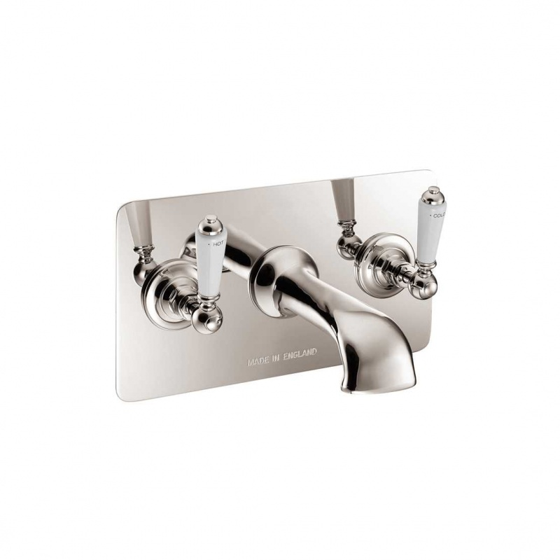Wall Mounted Bath Filler With Concealing Plate - Nickel