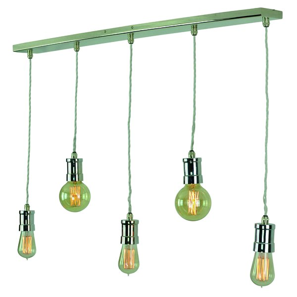Tommy 5 Light Pendant - Polished Nickel