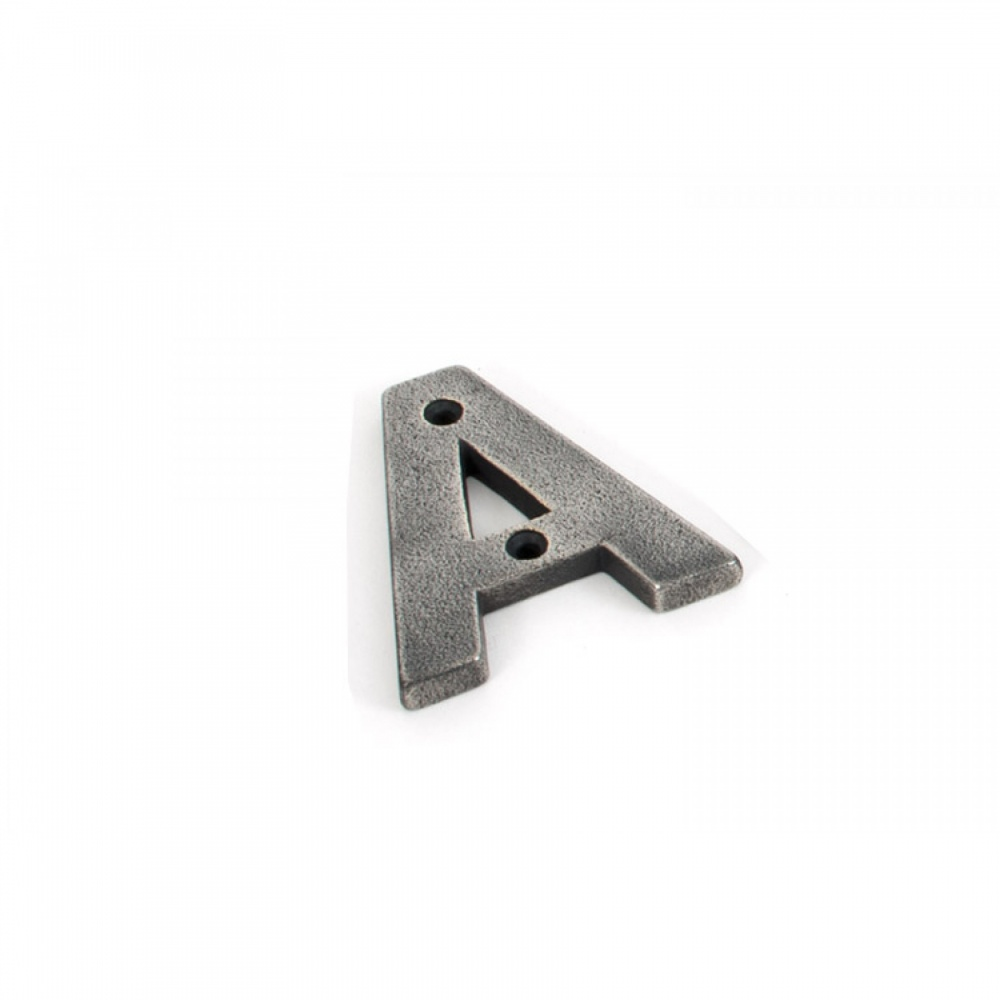 Antique Pewter Letter A