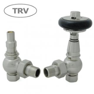 Amberley TRV Cast Iron Radiator Valve - Satin Nickel