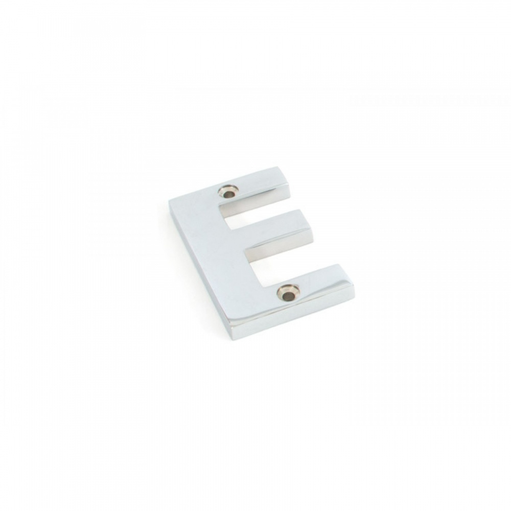 Polished Chrome Letter E