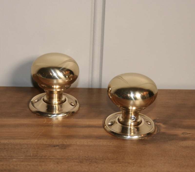Small Cottage Door Knobs - Brass