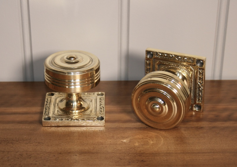 Square Brass Door Knob
