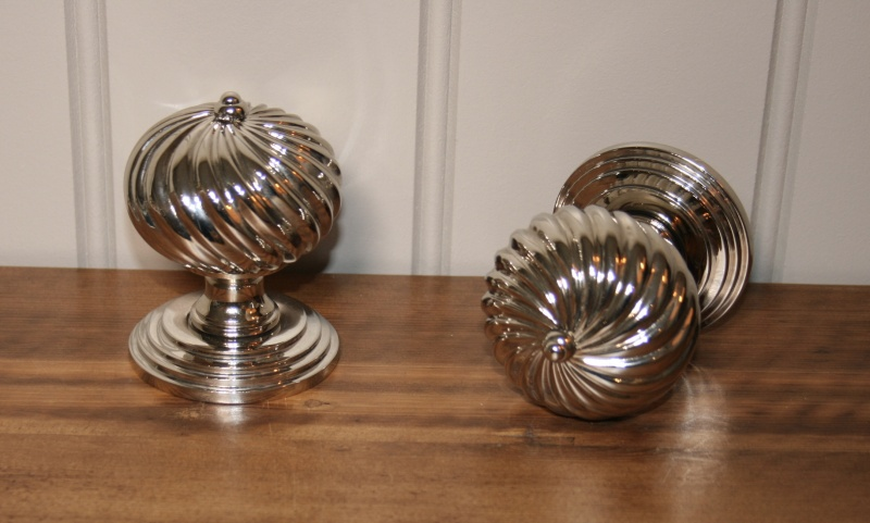 Burcot Nickel Door Knobs