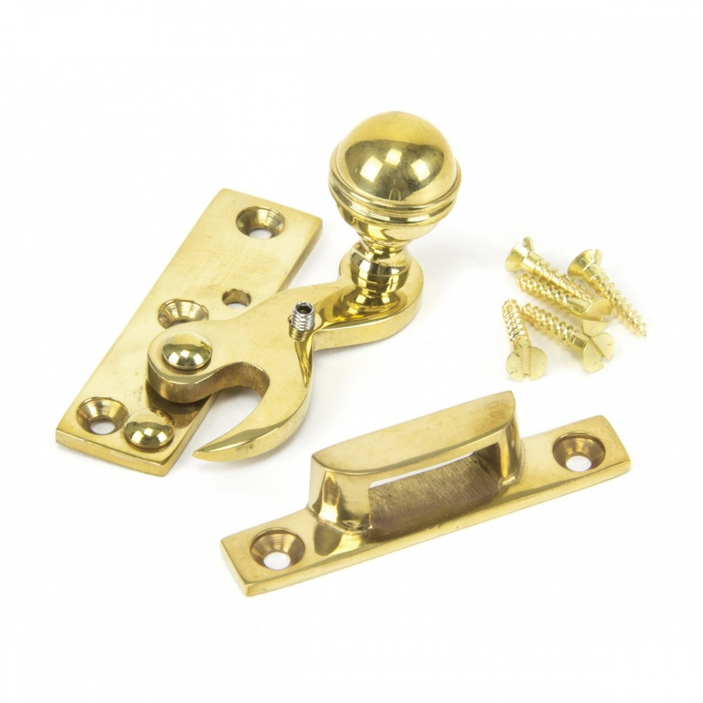 Polished Brass Sash Window Hook Fastener