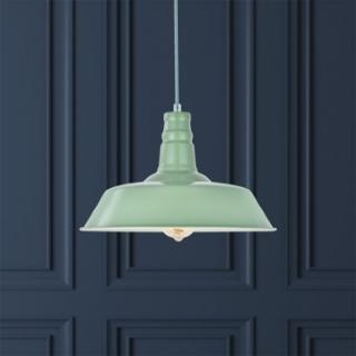 Large Argyll Industrial Pendant Light Chalk Mint Green