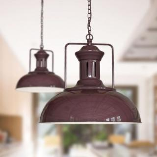 Regent Vintage Kitchen Pendant Light Mulberry Red Maroon