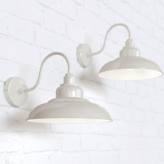 Portland Reclaimed Style Wall Light Clay White Cream