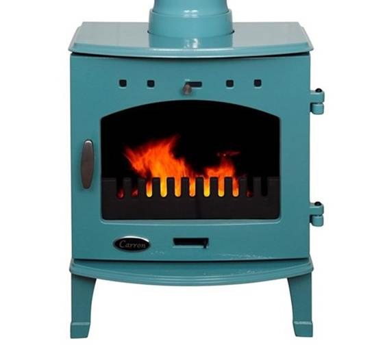 Carron Teal Enamel 7.3kW Multifuel DEFRA Smoke Exempt Stove