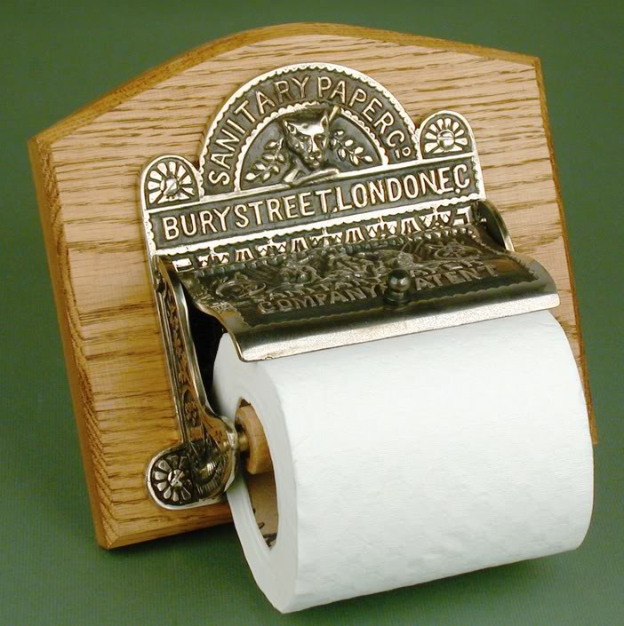 Antique Nickel Toilet Roll Holder
