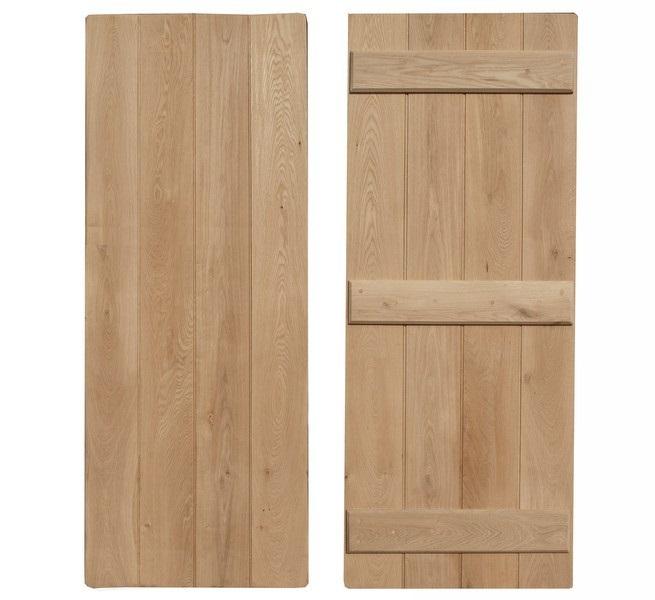 Mobile Home Cottage Door: Oak Planked Doors
