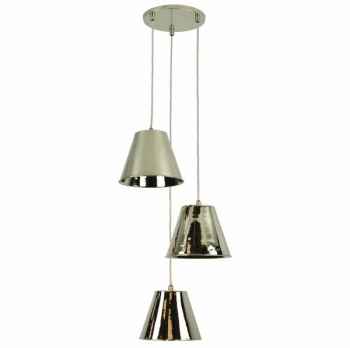 Map Room 3 Light Cluster - Polished Nickel