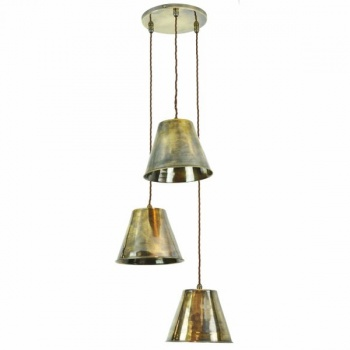 Map Room 3 Light Cluster - Antique Brass