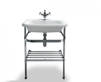 Medium Roll Top Clearwater Basin With Stainless Steel Stand