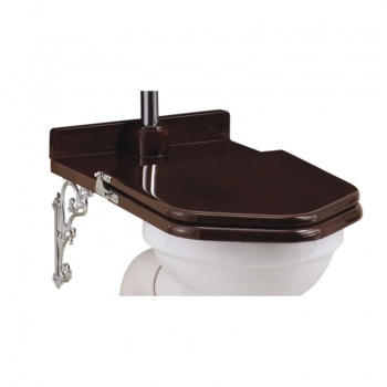 Wooden Mahogany Throne Toilet Seat - Low level