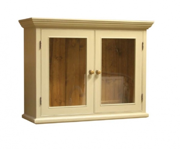 Wall Cupboard 2 Door Glazed no bracket