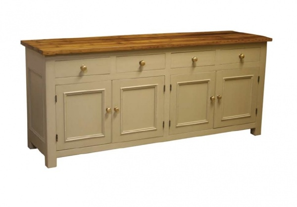 4 Door 4 Drawer Sideboard Square Post