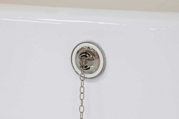 Nickel Exposed Bath Waste Kit including Shallow P Trap