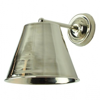 Large Map Room Wall Light - Nickel Finish