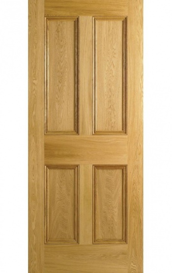 Traditional Oak Internal Doors - 4 Panel Fire Door