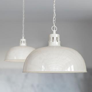 Berwick Rustic Dome Pendant Light Clay White Cream