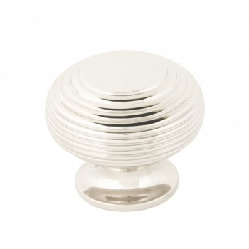 Polished Nickel Beehive Cabinet Knob - Large