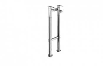 Sapphire Clearwater Bath Filler On Stand Pipes Floor Standing