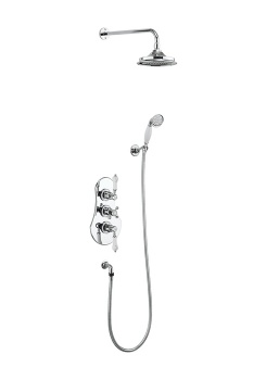 Severn Thermostatic Two Outlet Concealed Shower Valve