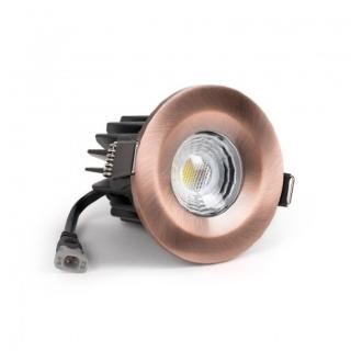 Antique Copper CCT Fire Rated LED Dimmable 10W IP65 Downlight