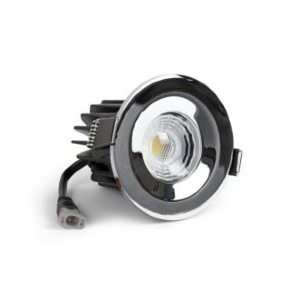 Polished Chrome CCT Fire Rated LED Dimmable 10W IP65 Downlight