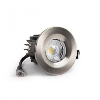 Brushed Chrome CCT Fire Rated LED Dimmable 10W IP65 Downlight