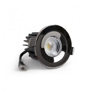 Black Chrome CCT Fire Rated LED Dimmable 10W IP65 Downlight
